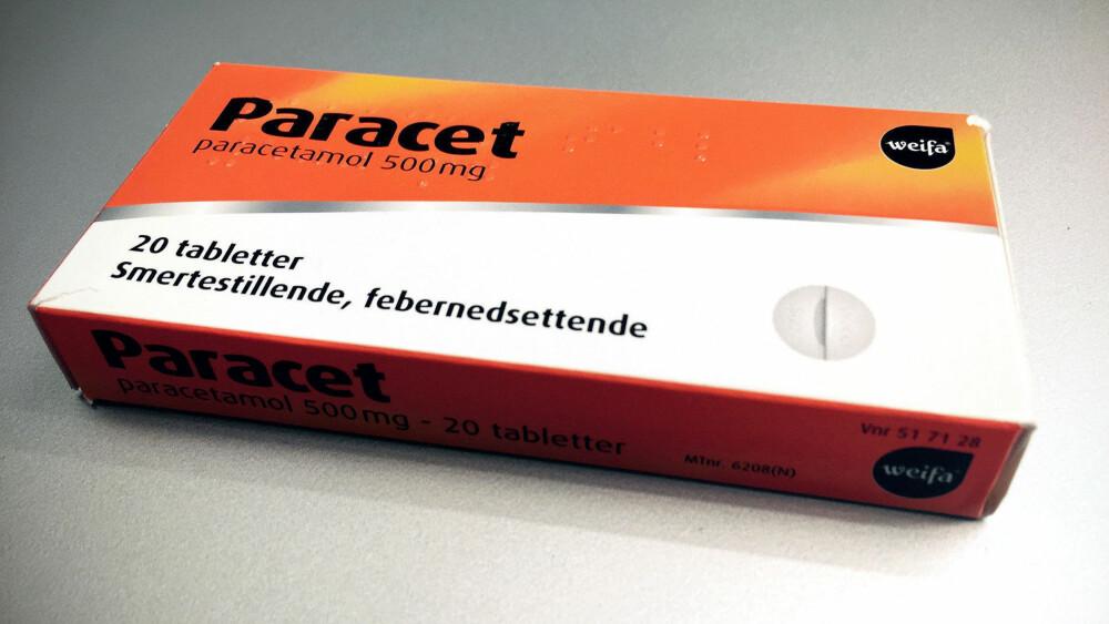 Paracetamol, som for eksempel Paracet er mest brukt, viser studien.