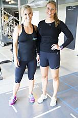 TRENING: Mari Mundal Krogshus og Torunn Ytrehus er utdannet og jobber som personlige trenere.