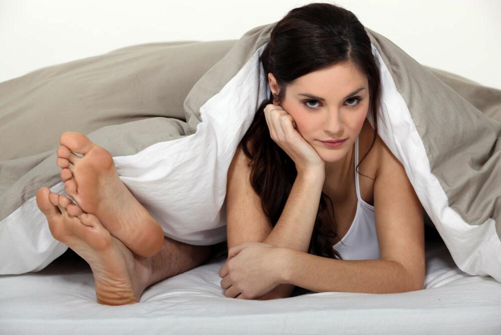 MANGE OPPLEVER å bli fortere irritert hvis sexlivet plutselig stopper opp.