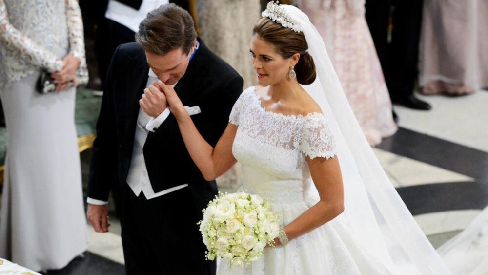 951f4840 Tårevåt Chris fikk endelig sin brud. Prinsesse Madeleine ...