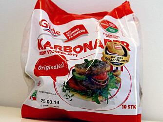 FORSKJELL PÅ KARBONADER: Disse karbonadene inneholder 63% prosent. Go`& mager-karbonadene inneholder 65% kjøtt.