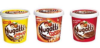 SUKKERBOMBER: Mange barn synes Nugatti er både søtt og godt, men blir det mange skiver med sjokoladepålegg i løpet av uka kan det fort bli et høyt sukkerinntak for de minste.