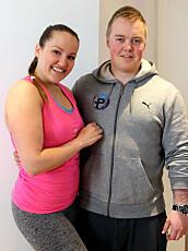 STOLTE AV HVERANDRE: Camilla Lorentzen og Andreas Stokkeland har vært sammen i snart to år.