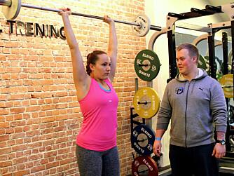 TRENINGSPAR: Camilla og Andreas tar gjerne en treningsøkt sammen.