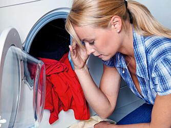 VASKETABBER: Unødvendig høy temperatur og for mye tørking i tørketrommelen kan føre til at klærne blir mer slitt enn nødvendig.