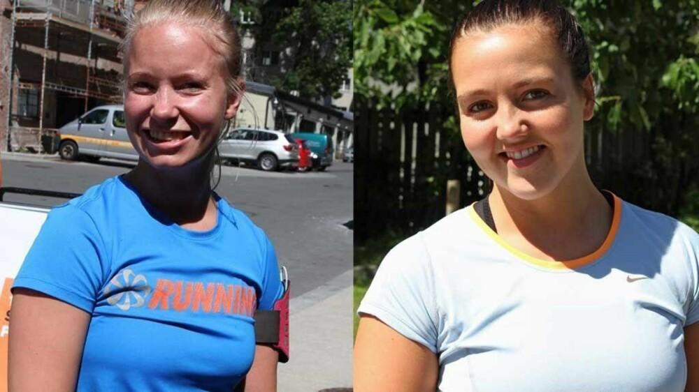 Hilde (til venstre) og Else er ferdige med dagens treningsøkt. Den ble ikke dokumentert med en selfie for noen av dem, men de er ikke fremmed for en selfie i ny og ne.