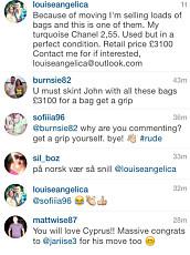 SHOPPING: Louse Angelica selger sine designervesker på Instagram.