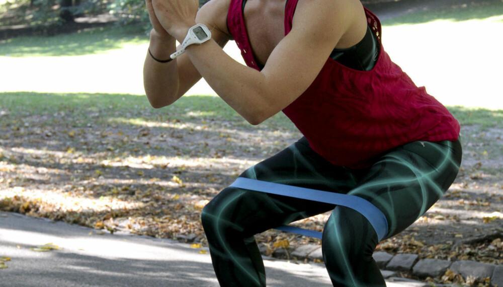 LENE ALEXANDRA har de siste årene blitt hekta på trening.