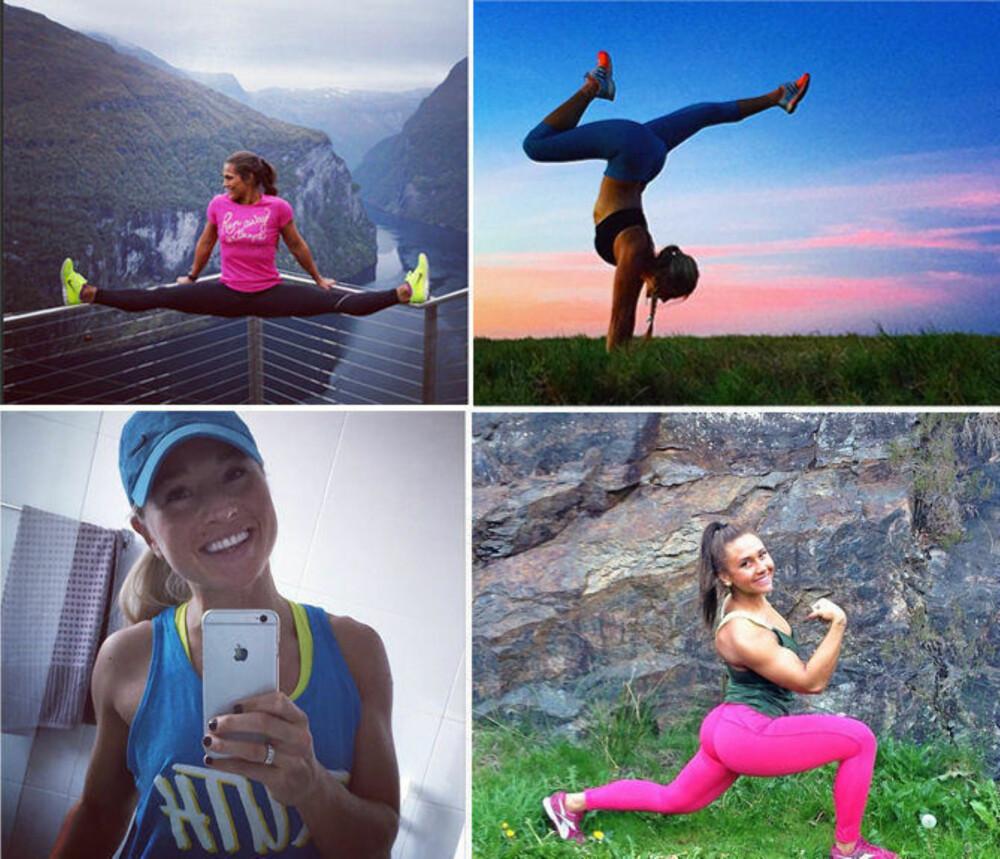 31b43b6d PÅ INSTAGRAM: Mange deler treningsbilder og videoklipp på sosiale medier.