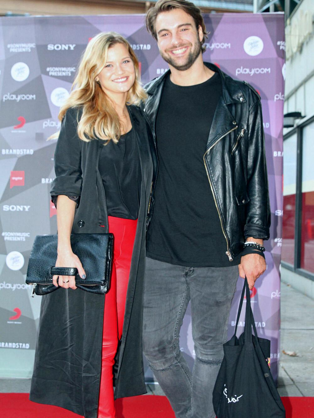 SANDRA med kjæresten Martin Bjercke.