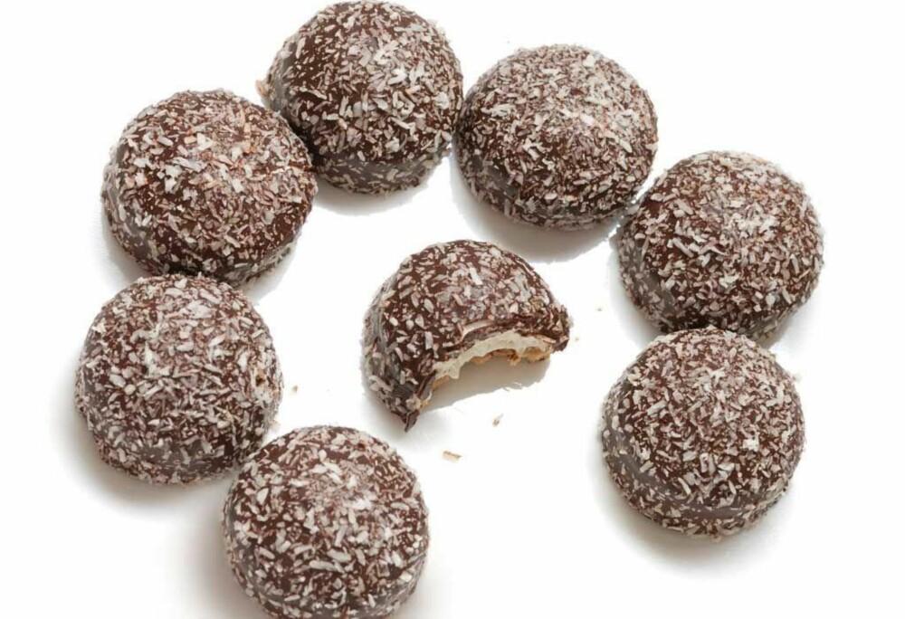 En kokosbolle kan gi deg akkurat det søtbehovet du trenger. Velg heller den lille bollen enn en stor kanelbolle.