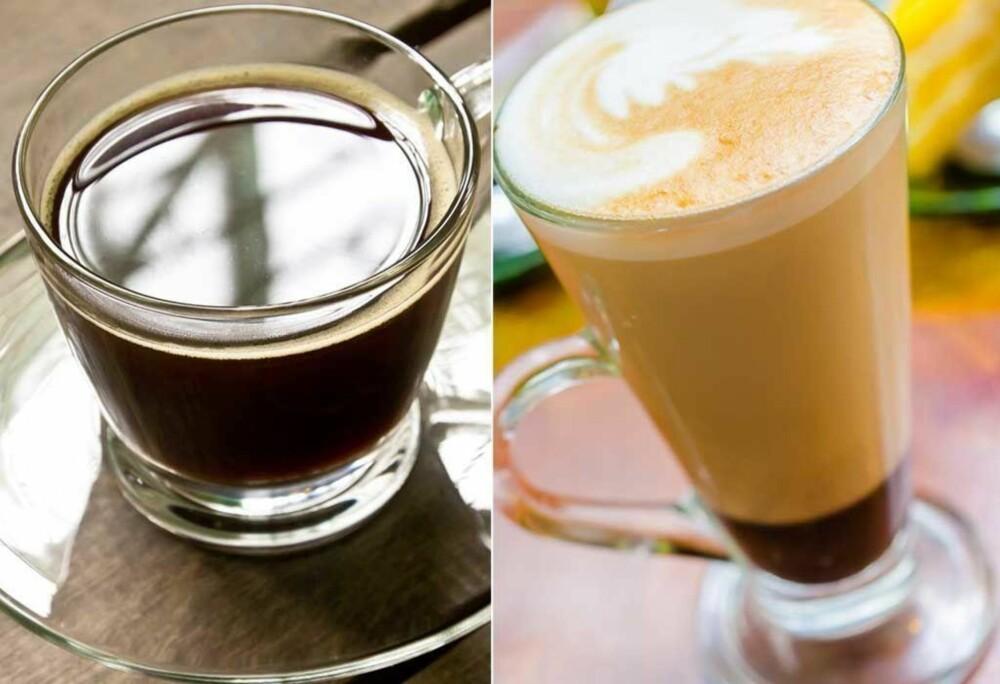 Americano istedenfor kaffe mocca? Det er kalorier å spare og du får fortsatt deilig kaffe.