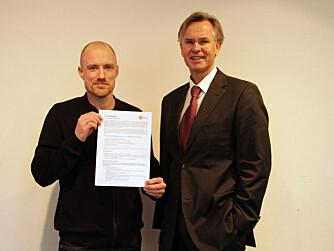 FRA KOSTREFORM: Pål Jåbekk (t.v.) og Erik Hexeberg presenterte nye kostråd.