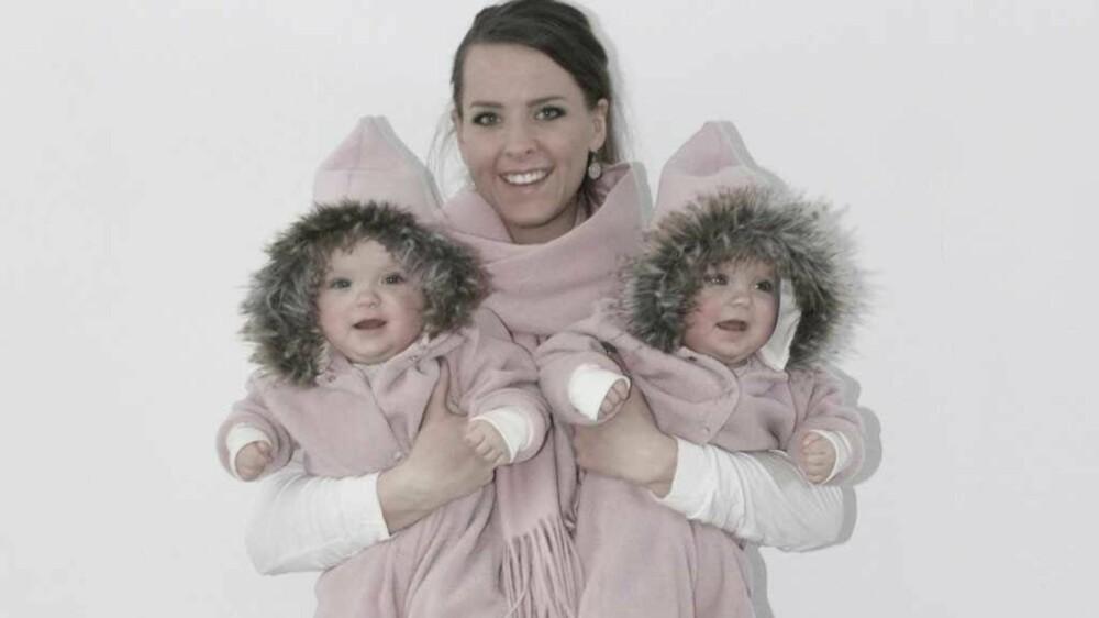 TOK FRAM SYMASKINEN: Å sy klærne selv ble redningen da Stine fikk tvillinger og utgiftene doblet seg.