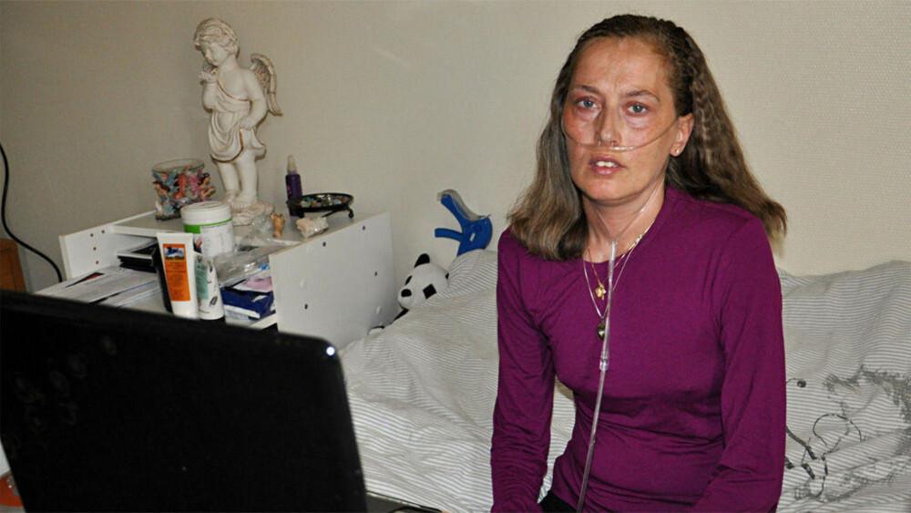 Siv Tove Pedersen, her i 2013, var avhengig av oksygen døgnet rundt de siste årene.
