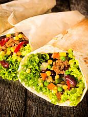 NORDMENNS FAVORITT: For en magrere tacomiddag kan du også bruke en lettere ostevariant.