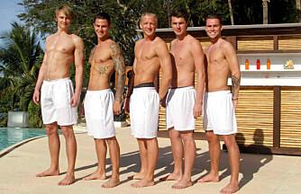 DEN HVITE GJENGEN: (f.v.) Jonas, Pierre, Harald, Mads og Kevin.