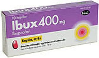 Bruken av Ibux og lignende smertestillende går ned med alderen.