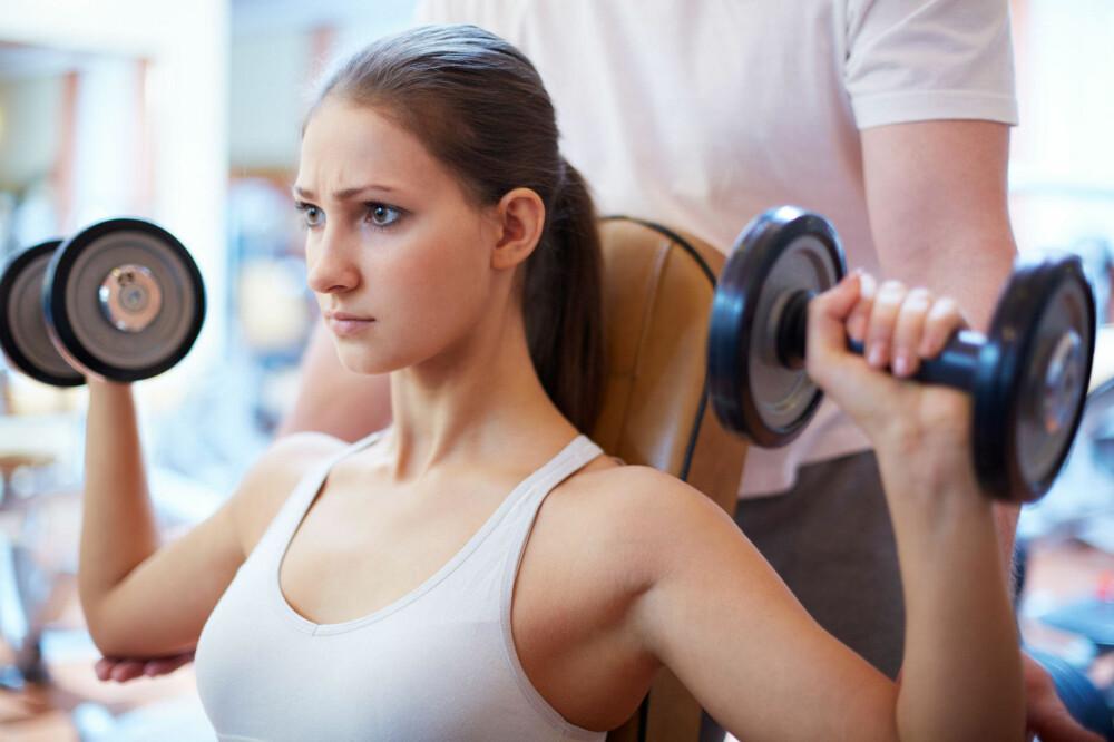 13919f2d PÅ TRENING: Jenter kan ha mange rare, men reelle bekymringer når de trener.