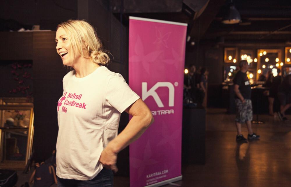ENGASJERT: Kari Traa vil med denne kampanjen vise verden at jenter står sammen mot nettrollene.