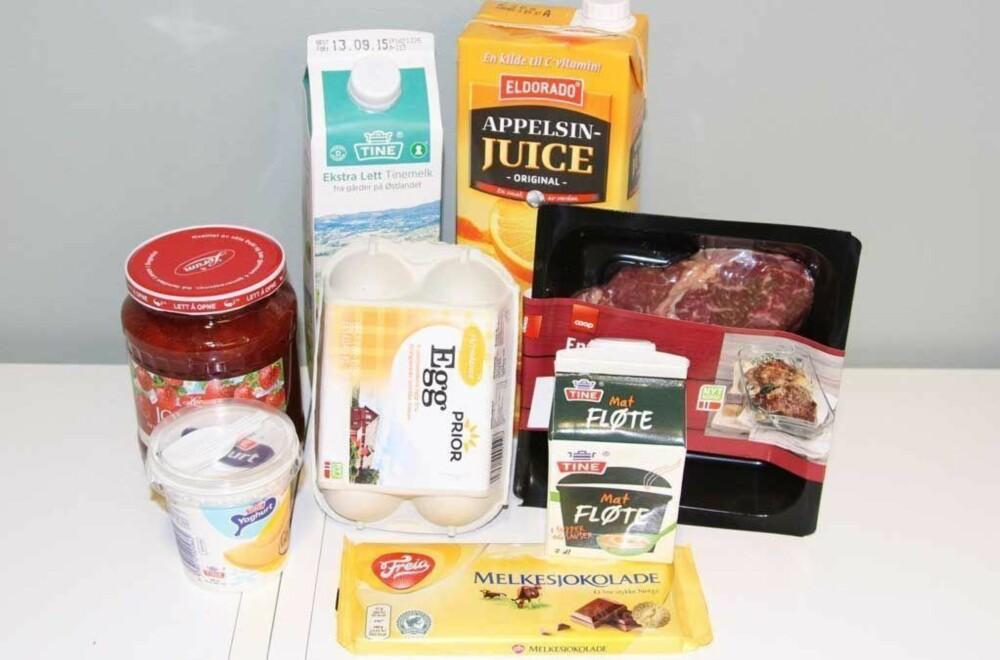 HER KAN DU BRUKE DØMMEKRAFTEN: Alle disse matvarene holder seg gjerne lenger enn det som står på varen, sier forbrukerøkonom Elin Reitan.