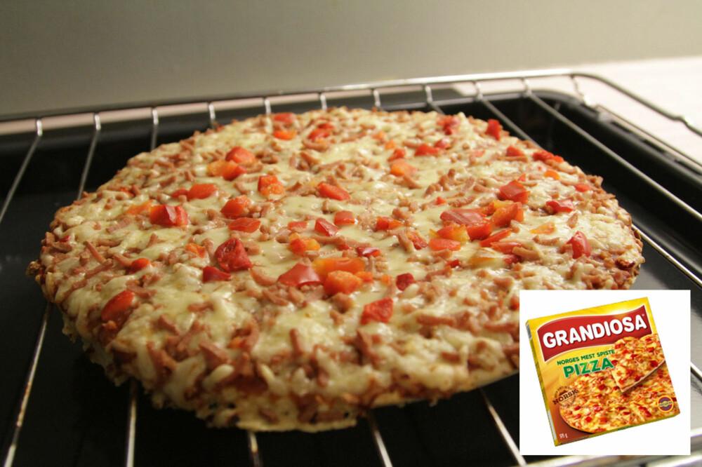 PIZZA GRANDIOSA er en populær pizza blant nordmenn.