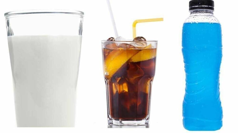 - Melk, brus, lettbrus og energidrikker bør du begrense inntaket av, ifølge Geelmuyden.