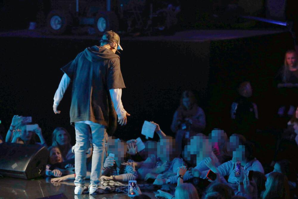 KORT LUNTE: Justin Bieber forlot scenen i Chateu Neuf i Oslo etter kun én låt.