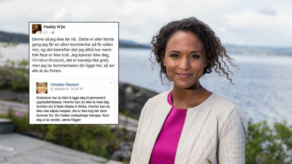 DELTE HETSEN: Da NRK-profilen Haddy N'jie oppdaget at hun ble hetset på Facebook valgte hun å dele det med sine følgere.