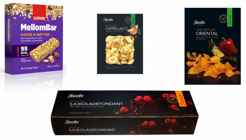 NYHETER: Dette er bare noen av produktnyhetene som kommer i butikk fra NorgesGruppen.