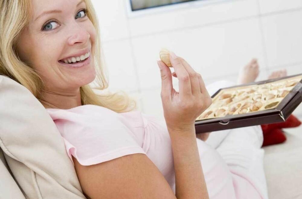Kvinnene i studien spiste 30 gram sjokolade hver dag.