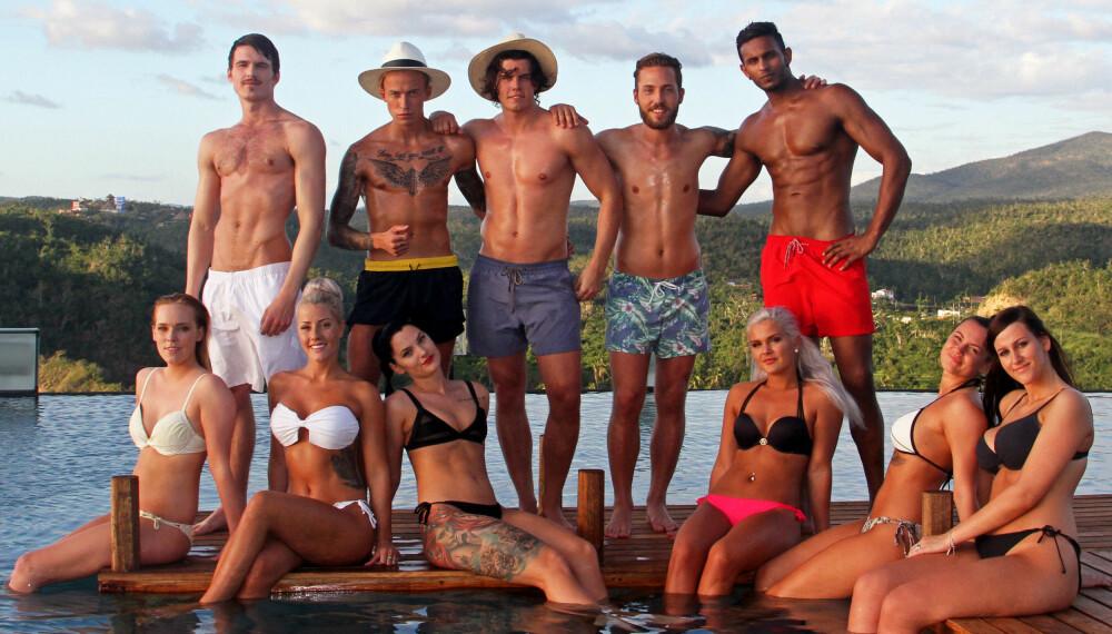 REALITY: Dette er de første deltakerne som sjekker inn på årets Paradise Hotel.