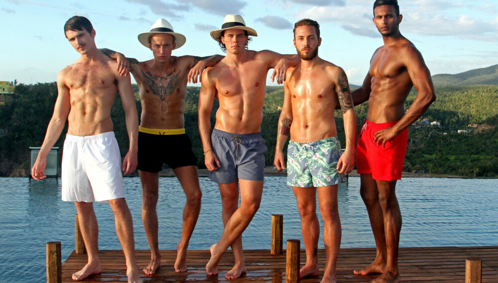 DE FØRSTE PARADISEGUTTENE 2016: Disse fem mannfolka sjekker inn på Paradise Hotel den første uke.