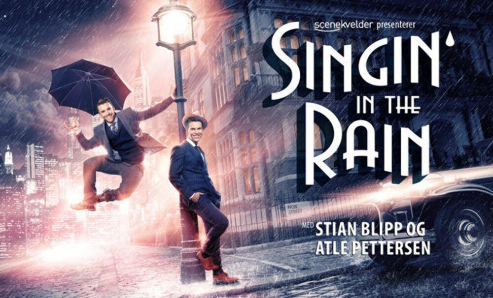 MUSIKAL: Stian Blipp og Atle Pettersen skal spille sammen i musikalen «Singin' in the Rain».
