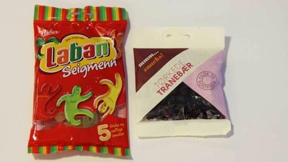SUKKERBOMBER: Begge disse må kunne kalles sukkerbomber, selv om tranebærene bidrar med kostfiber.
