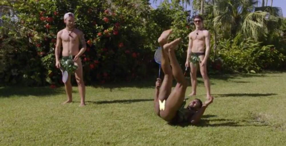 """Paradise gutta på date i """"Adams"""" drakt."""