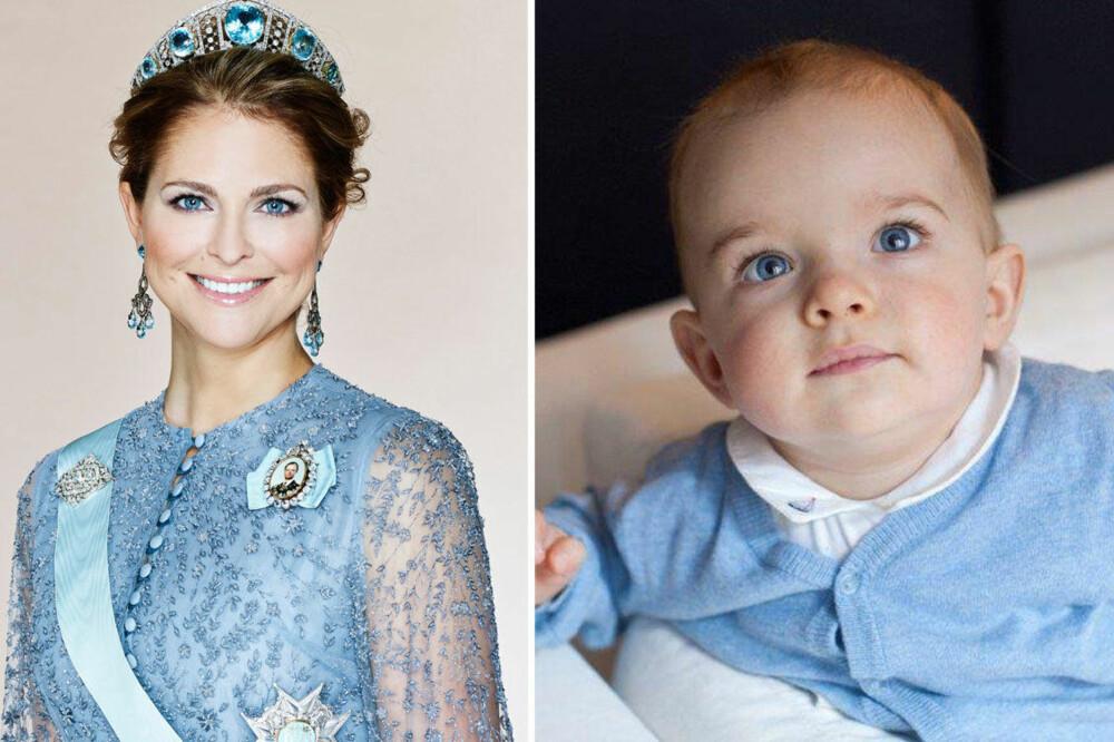 TIDEN FLYR: Prinsesse Madeleine delte nylig et bilde av sin ni måneder gamle sønn på Facebook.