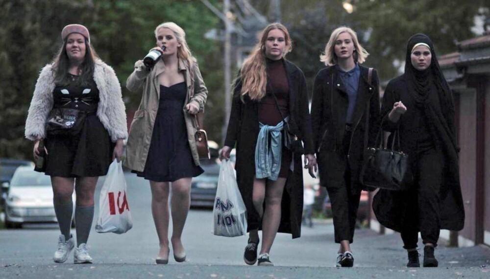 NRK-serien Skam handler om blant annet denne venninnegjengen som går på Hartvig Nissen videregående i Oslo.