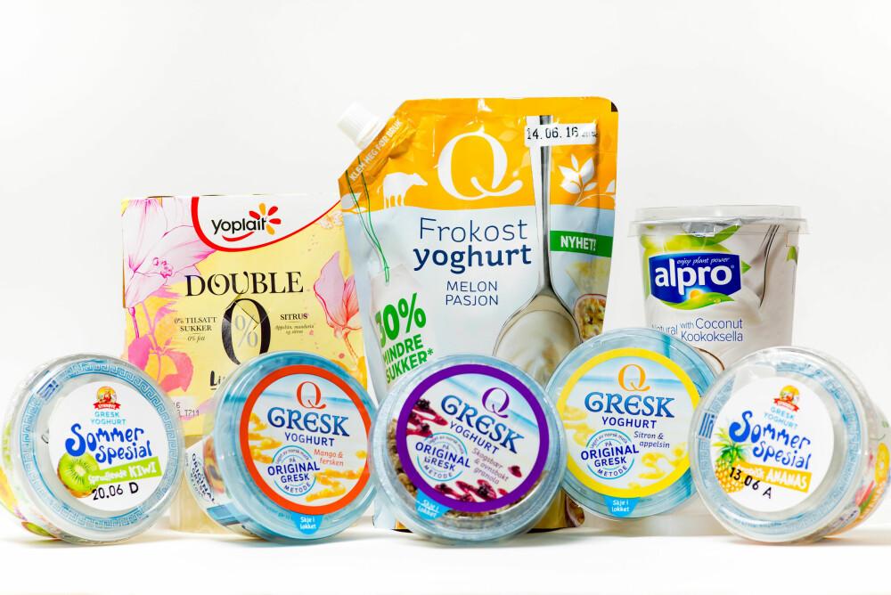 SIDE2 HAR SMAKT PÅ åtte ulike yoghurtnyheter som kom i butikk i mai.