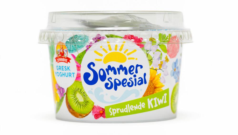 SYNNØVE FINDEN med kiwiyoghurt.