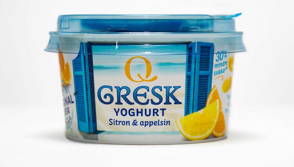 GRESK YOGHURT MED sitron og appelsin.