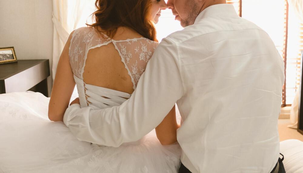 LYKKELIG GIFT, men det er dumt å starte ekteskapet med stor gjeld.
