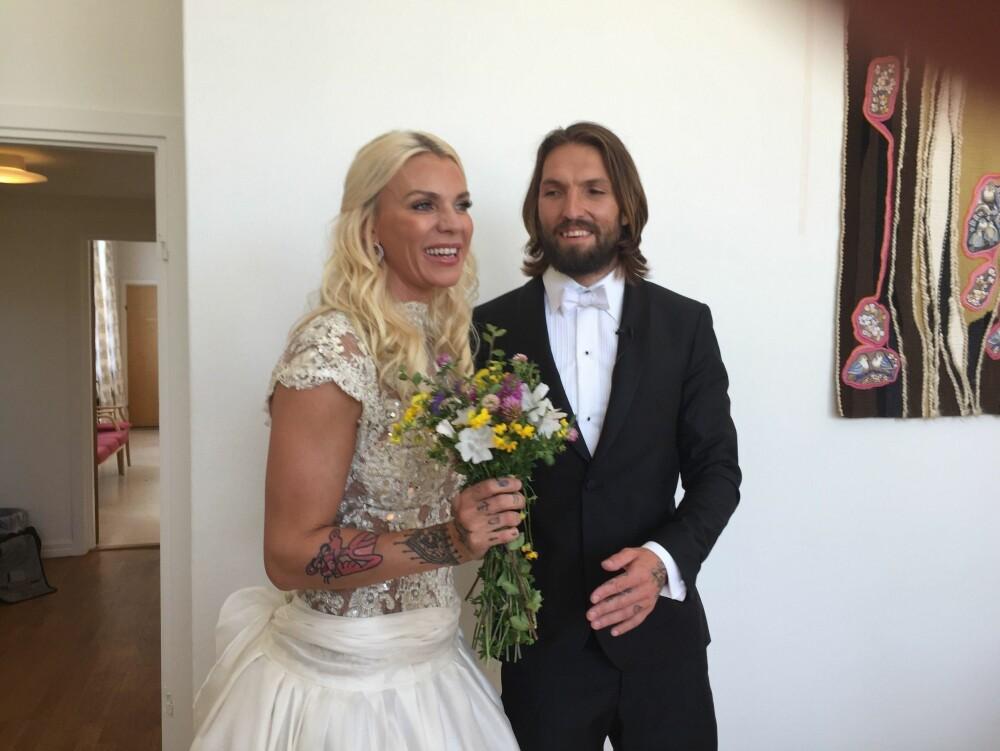 Maria Høili og Edvard Erken har vært et par siden 2014. - Jeg og Edvard er sjelevenner, og jeg føler meg hel når jeg er med ham, sier bruden til Side2/Nettavisen. Foto: Farid Ighoubah / Nettavisen.