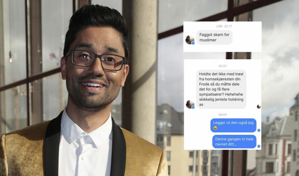 FACEBOOK: Noman Mubashir har brukt Facebook for å skrive om hatmeldinger han har fått etter at han sto frem som homofil. Nå slår han tilbake.