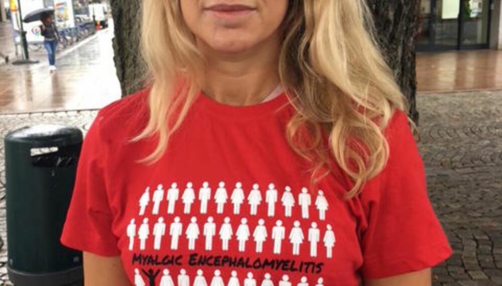 Hilde Nilsen er en av dem som står bak aksjonen for å rette fokus på ME-syke. Sønnen hennes Herman har vært syk i fire år.