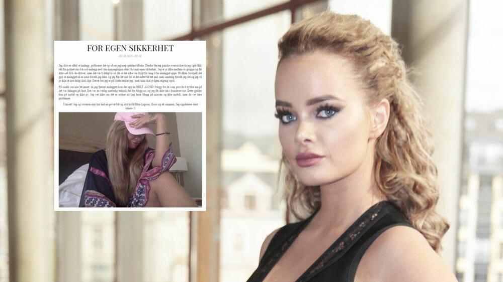 HAR ANMELDT: Toppblogger Sophie Elise Isachsen (21) har fredag kveld anmeldt personer i«Mannegruppa Ottar».