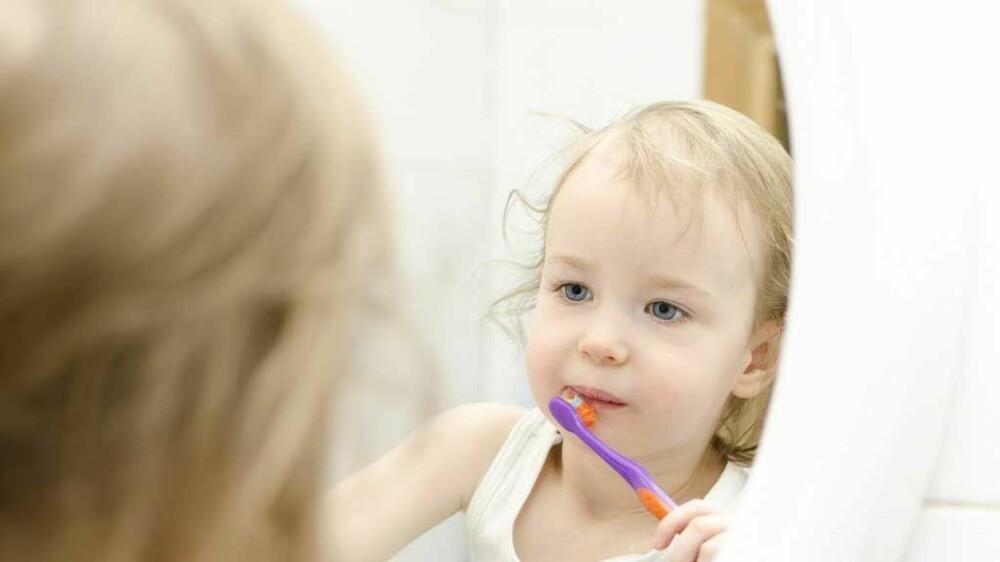 - Husk tannpuss fra første tann, råder tannlege.