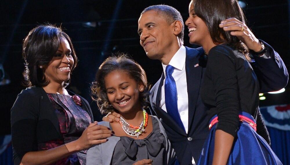 ANDRE RUNDE: Familien Obama da han ble gjenvalgt til president.