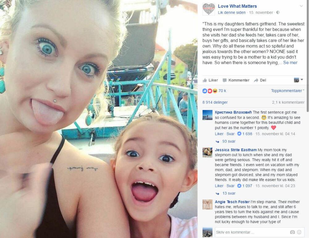 afdbae80 VIRALT: Audrey Nicole hyllet eksens nye kjæreste i et Facebook-innlegg som gikk  verden