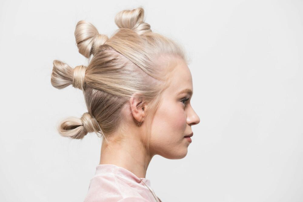 TIL JUL-OG NYTTÅRSFESTENE: Frisør Erle Børstad Nordmark viser deg hvordan du lager en frisyre som vil overraske alle på festen.
